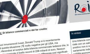 Di bilance commerciali e del far credito