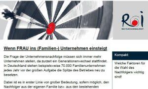 Wenn FRAU ins (Familien-) Unternehmen einsteigt