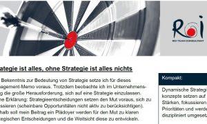 Strategie ist alles, ohne Strategie ist alles nichts