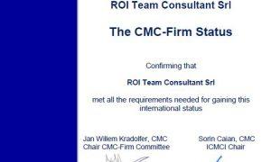 Erste Unternehmensberatung Italiens mit CMC-firm Zertifizierung