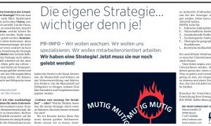 Die eigene Strategie…wichtiger denn je!